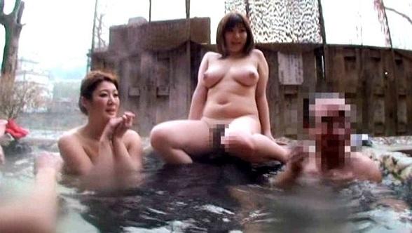 混浴温泉AVエロ画像1